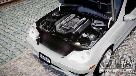 Mercedes-Benz C32 AMG 2004 para GTA 4 vista interior