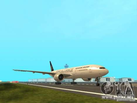 Boeing 777-200 Singapore Airlines para GTA San Andreas left