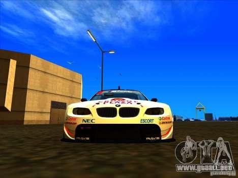 BMW M3 GT ALMS GT2 Series para GTA San Andreas vista posterior izquierda