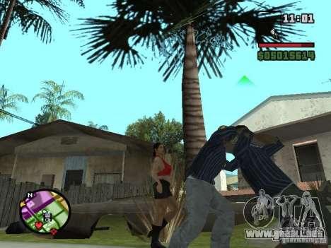 G: para GTA San Andreas sucesivamente de pantalla