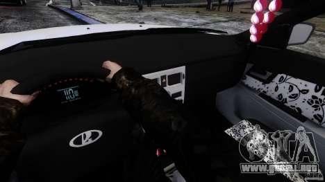 VAZ-2171 Touring para GTA 4 vista hacia atrás
