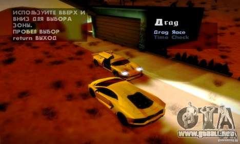 Drag Track Final para GTA San Andreas quinta pantalla