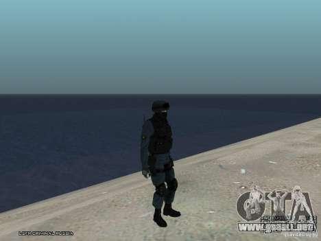 Oficial de policía antidisturbios para GTA San Andreas octavo de pantalla
