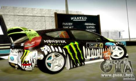 Ford Fiesta Gymkhana 4 para la vista superior GTA San Andreas