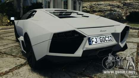 Lamborghini Reventon 2008 v1.0 [EPM] para GTA 4 Vista posterior izquierda