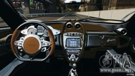 Pagani Huayra 2011 v1.0 [RIV] para GTA 4 vista hacia atrás