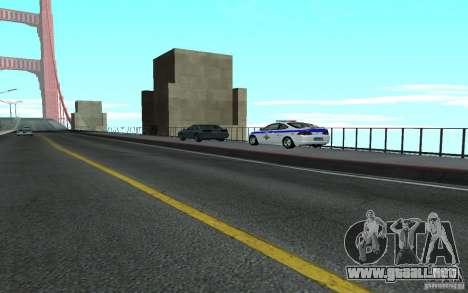Policía en el puente de San Fiero_v. 2 para GTA San Andreas tercera pantalla