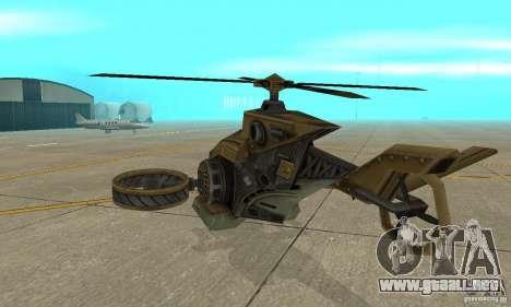 Un helicóptero desde el juego TimeShift Brown para la visión correcta GTA San Andreas