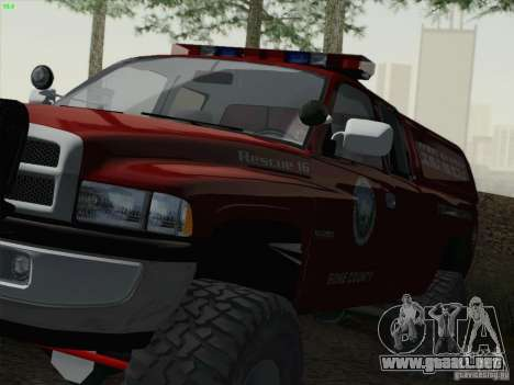 Dodge Ram 3500 Search & Rescue para la visión correcta GTA San Andreas