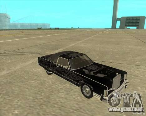 Lincoln Continental Town Coupe 1979 para GTA San Andreas vista hacia atrás