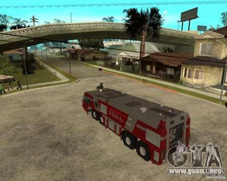 Rosenbauer Simba 8x8 GFLF FDSA para GTA San Andreas left