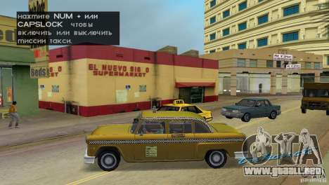 Cabbie HD para GTA Vice City left