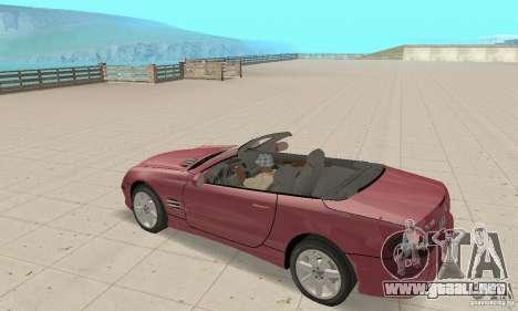 Mercedes-Benz SL500 (R230) para GTA San Andreas vista hacia atrás