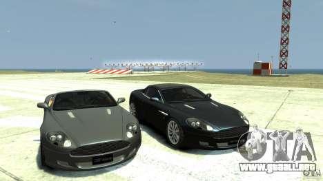 Aston Martin Volante DB9 para GTA 4 vista hacia atrás
