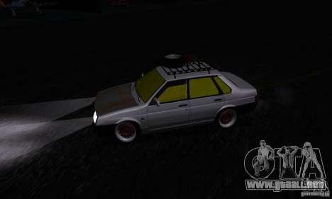 VAZ 21099 rata Mira para GTA San Andreas vista hacia atrás