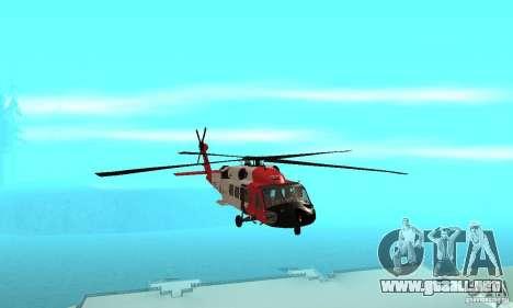 HH-60 Jayhawk USCG para visión interna GTA San Andreas