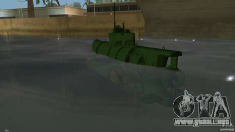 Seehund Midget Submarine skin 1 para GTA Vice City vista lateral izquierdo