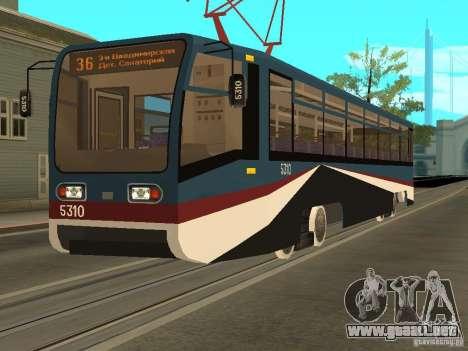 El nuevo tranvía para GTA San Andreas