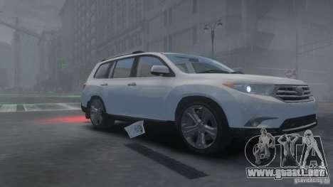 Toyota Highlander 2012 v2.0 para GTA 4 left