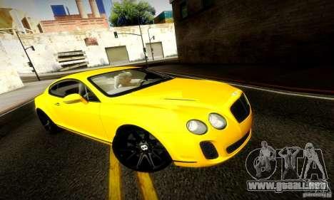 Bentley Continental Supersports para visión interna GTA San Andreas
