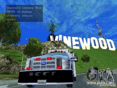 Ford F350 REP Truck para GTA San Andreas vista posterior izquierda