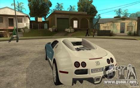 Alerón para el Bugatti Veyron Final para GTA San Andreas segunda pantalla
