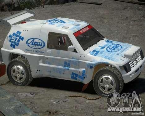 Mitsubishi Pajero Proto Dakar EK86 vinilo 3 para GTA 4 Vista posterior izquierda