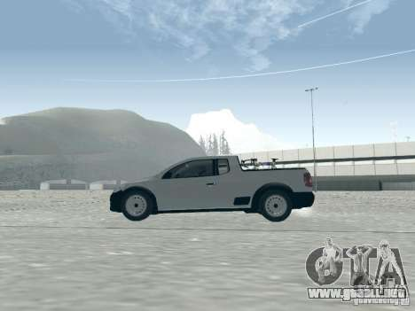 Volkswagen Saveiro 1.6 2009 para GTA San Andreas vista posterior izquierda