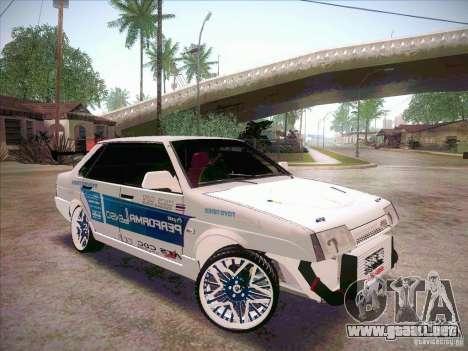 VAZ deriva 21099 estilo para la visión correcta GTA San Andreas