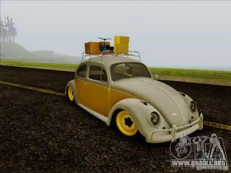 Volkswagen Beetle Edit para GTA San Andreas vista posterior izquierda