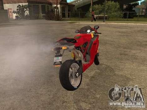 Ducati 999s para GTA San Andreas vista posterior izquierda