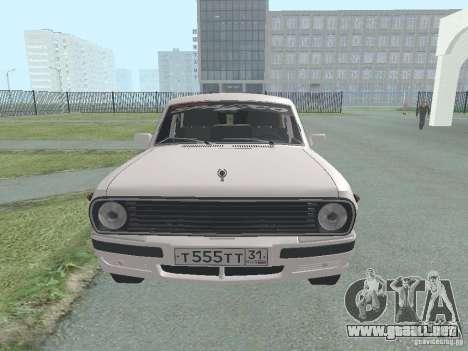 Volga GAZ-24 105 para la visión correcta GTA San Andreas