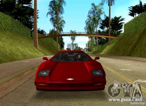 Infernus BETA para GTA Vice City vista posterior
