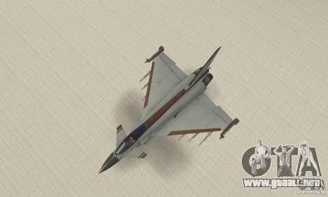 EF-2000 Typhoon V1.3 para vista lateral GTA San Andreas