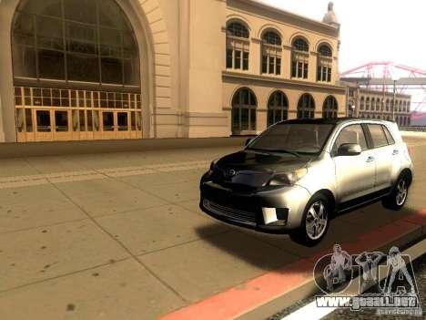 Scion xD para GTA San Andreas vista posterior izquierda
