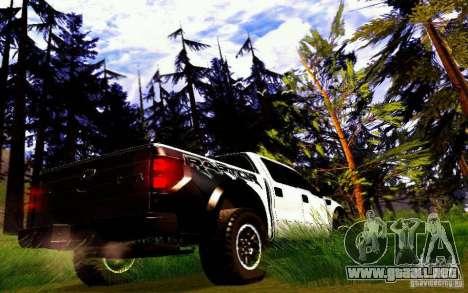 Ford Raptor Crewcab 2012 para la visión correcta GTA San Andreas