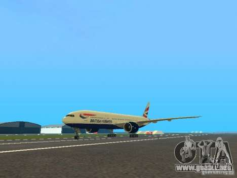 Boeing 777-200 British Airways para GTA San Andreas