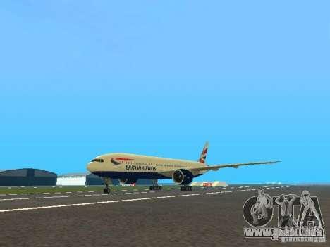 Boeing 777-200 British Airways para GTA San Andreas