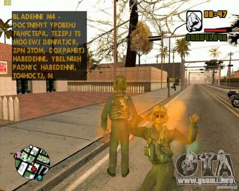 Piloto de COD4 para GTA San Andreas segunda pantalla