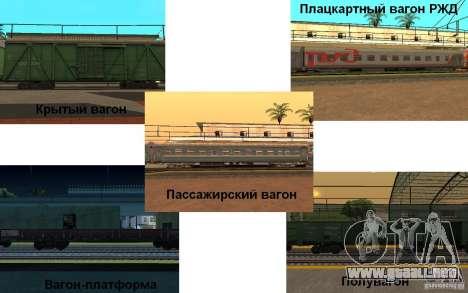 FERROCARRIL mod II para GTA San Andreas segunda pantalla