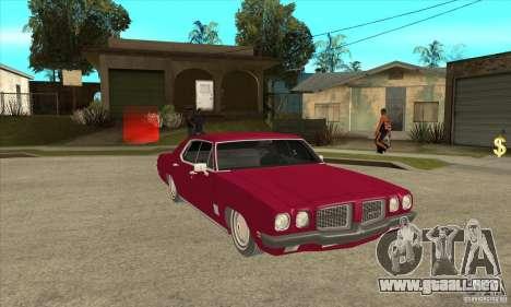 Pontiac LeMans para GTA San Andreas vista hacia atrás