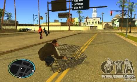 Shopping Cart Faggio V2 para GTA San Andreas vista posterior izquierda