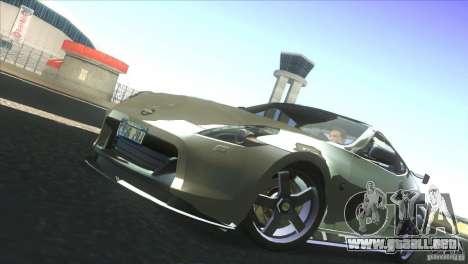 Nissan 370Z Drift 2009 V1.0 para visión interna GTA San Andreas