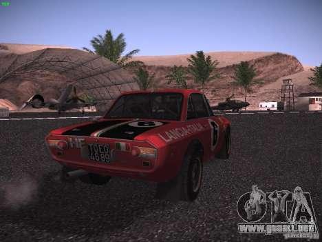Lancia Fulvia Rally para GTA San Andreas vista posterior izquierda