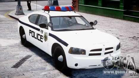 Dodge Charger FBI Police para GTA 4 vista interior