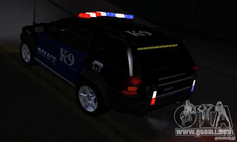 NFS Undercover Police SUV para visión interna GTA San Andreas