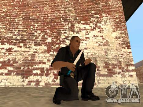 Chrome and Blue Weapons Pack para GTA San Andreas undécima de pantalla