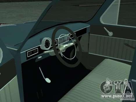 Moskvich 407 para GTA San Andreas vista hacia atrás
