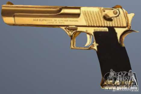 Golden Desert Eagle para GTA San Andreas segunda pantalla