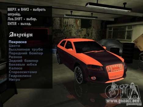Audi S3 2006 Juiced 2 para GTA San Andreas